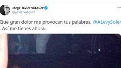 La respuesta de Jorge Javier Vázquez a Andrea Levy: ojo a la foto que