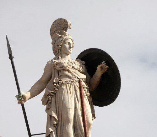 Αγαλμα της θεάς Αθηνάς στην Ακαδημία