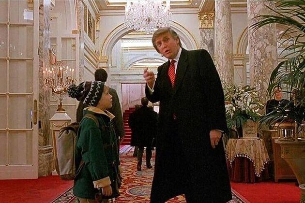 Donald Trump y Macaulay Culkin en 'Solo en casa