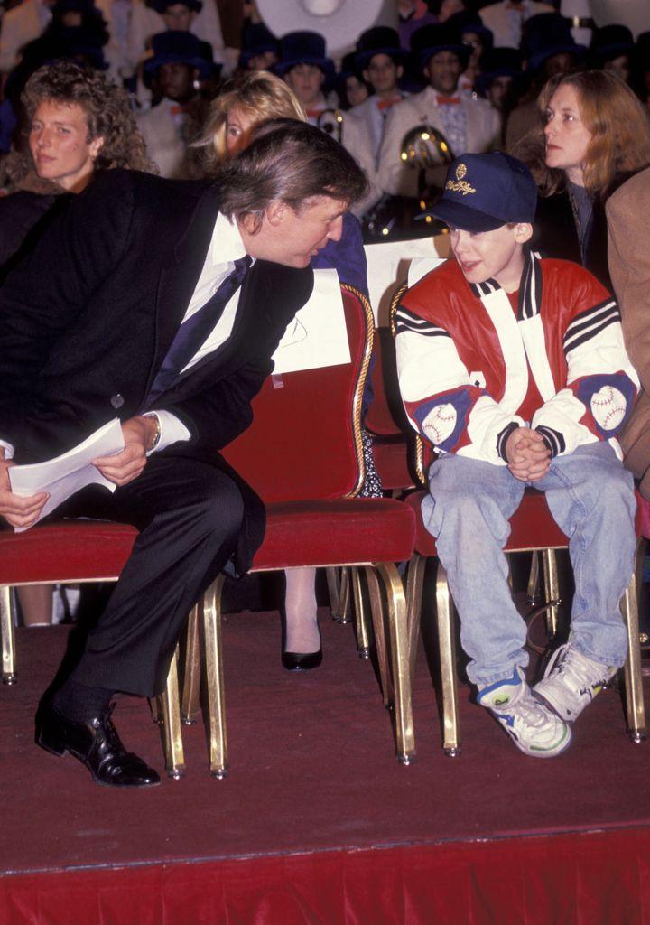 Donald Trump and Macaulay Culkin in 1991.