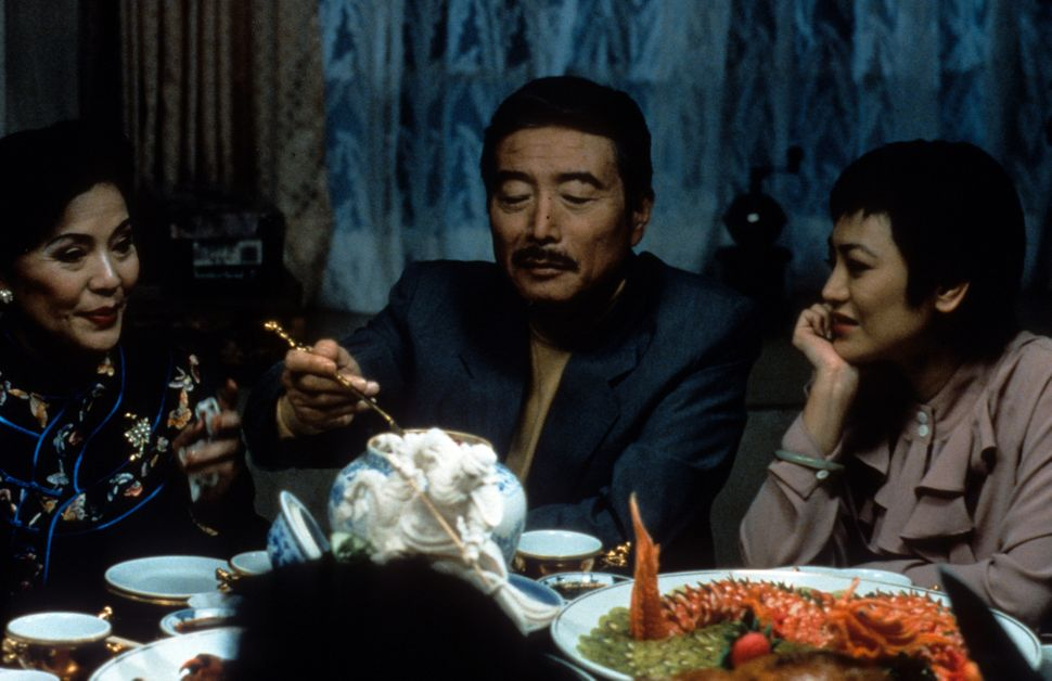 "Gua Ah-leh, Sihung Lung and Sylvia Chang in ""Eat Drink Man Woman."""