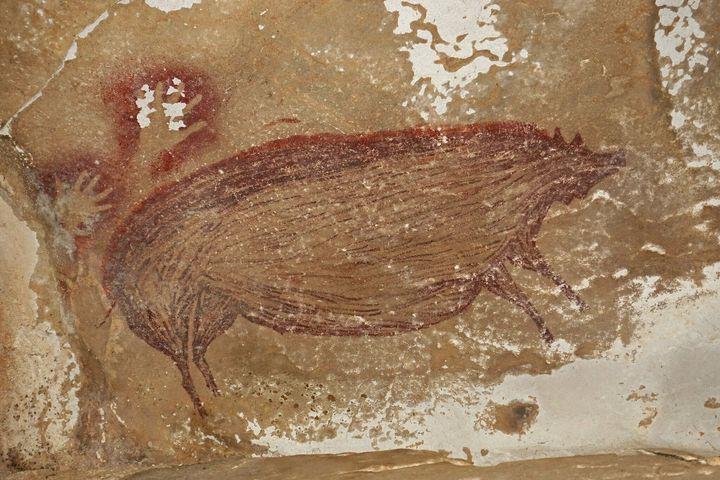 La peinture prouve qu'il y avait une présence humaine sur l'île de Sulawesi