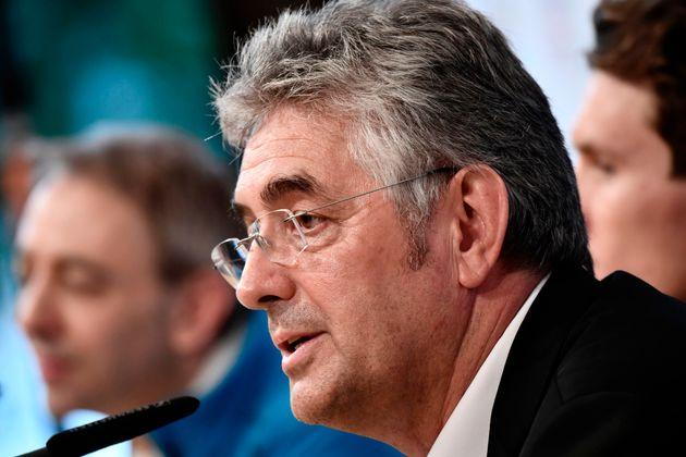 Marc Madiot, à l'époque manager de l'équipe cycliste FDJ, participant à une...