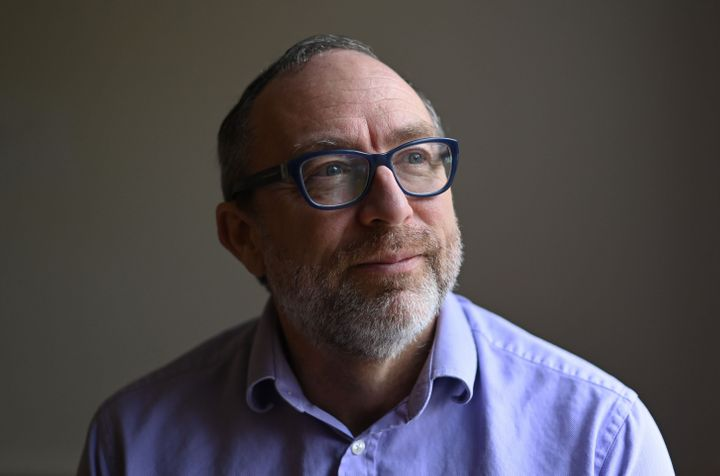 "Jimmy Wales, founder of online encyclopedia Wikipedia poses for a portrait in London on January 13, 2021. - Social media platforms like Twitter and Facebook did a ""poor job"" of dealing with outgoing US President Donald Trump for a ""very, very long time"", Wikipedia founder Jimmy Wales has said. (Photo by DANIEL LEAL-OLIVAS / AFP) (Photo by DANIEL LEAL-OLIVAS/AFP via Getty Images)"