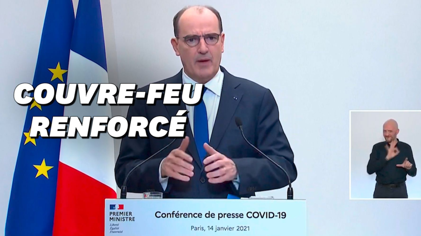Covid-19: Castex annonce un couvre-feu national à 18h dès samedi