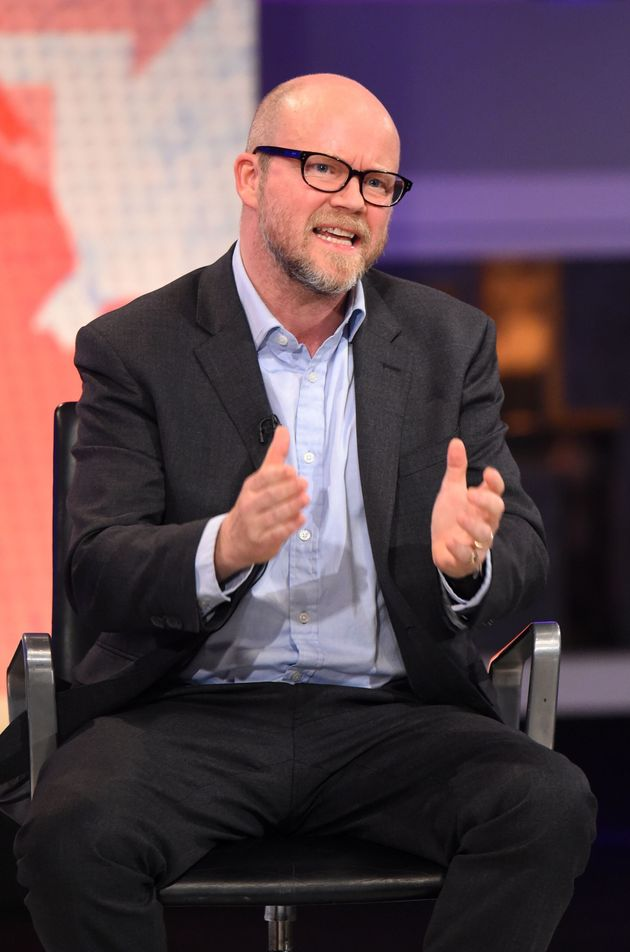 Toby Young pictured during a Channel 4 EU referendum