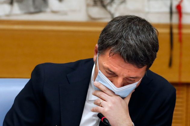 Press conference of the senator and leader of the party Italia Viva Matteo Renzi during the press conference...