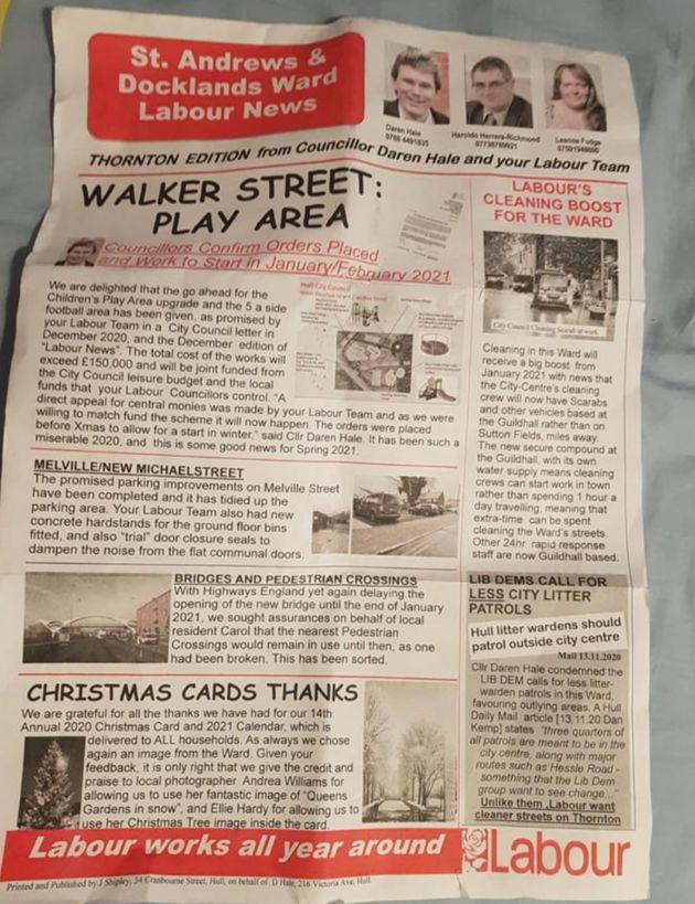 Hull leaflet