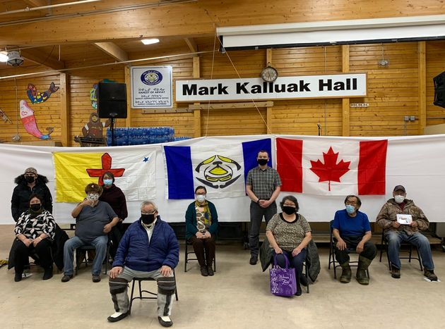 Arviat, Nunavut elders who received their first doses of the vaccine on Jan. 13, 2021.