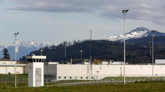 The Monroe Correctional Complex, the site of a recent inmate protest after several inmates and staff tested positive for COVID-19, is pictured as efforts continue to help slow the spread of coronavirus disease (COVID-19) in Monroe, Washington, U.S. April 14, 2020.  REUTERS/Jason Redmond