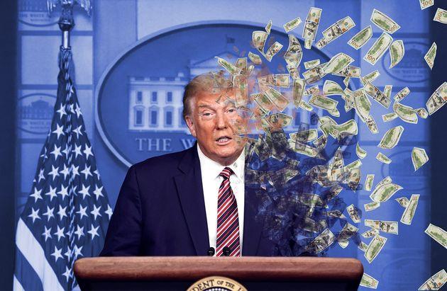 Les derniers jours du mandat de Donald Trump lui auront coûté une fortune (illustration...