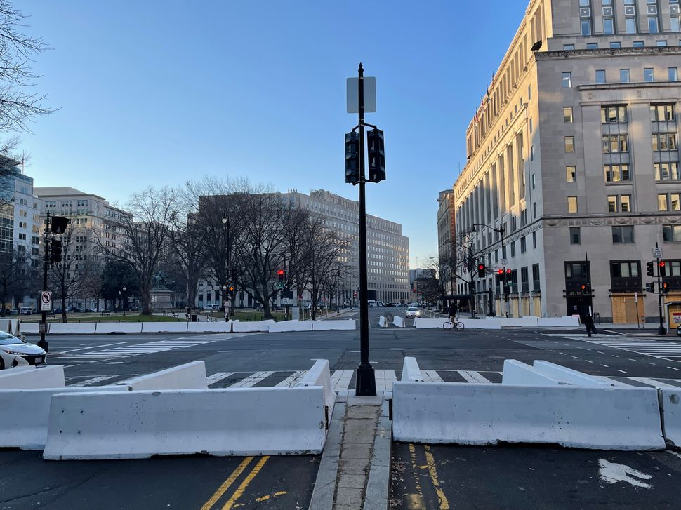 Surreal Photos Show DC In Lockdown As Inauguration Day