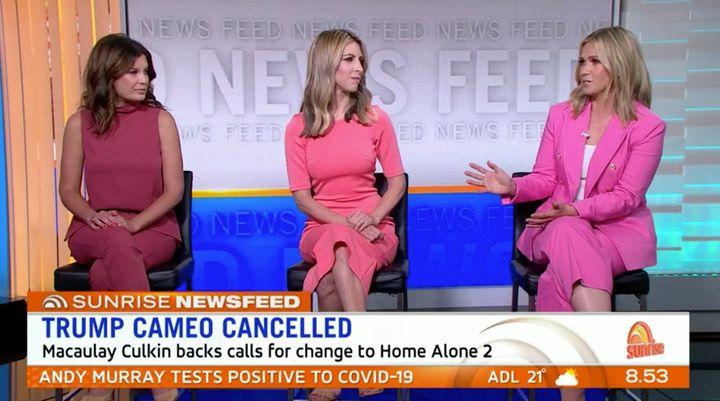 Edwina Bartholomew (R) was asked Friday on 'Sunrise' if Donald Trump is attractive.