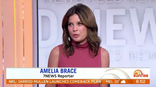 Channel 7 news reporter Amelia Brace said she disagreed with Trump being digitally removed from the 1992...
