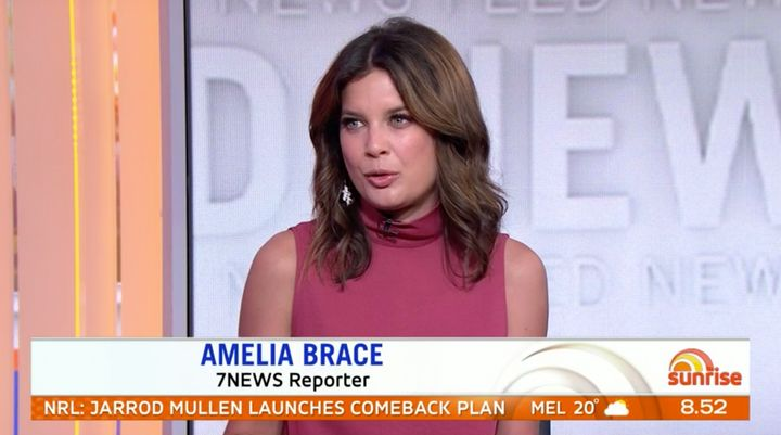 Channel 7 news reporter Amelia Brace said she disagreed with Trump being digitally removed from the 1992 'Home Alone 2' film.