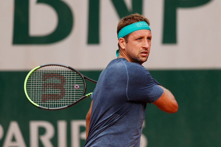US player Tennys Sandgren during his Men's Singles second-round match against Daniel Elahi Galan of Colombia at the French Open in October. Sandgren tested positive for COVID-19 earlier this week.