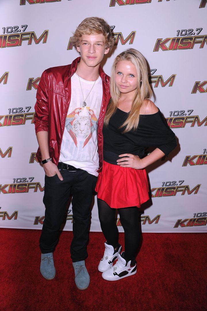 Cody Simpson and Alli Simpson pictured in LA in 2011.
