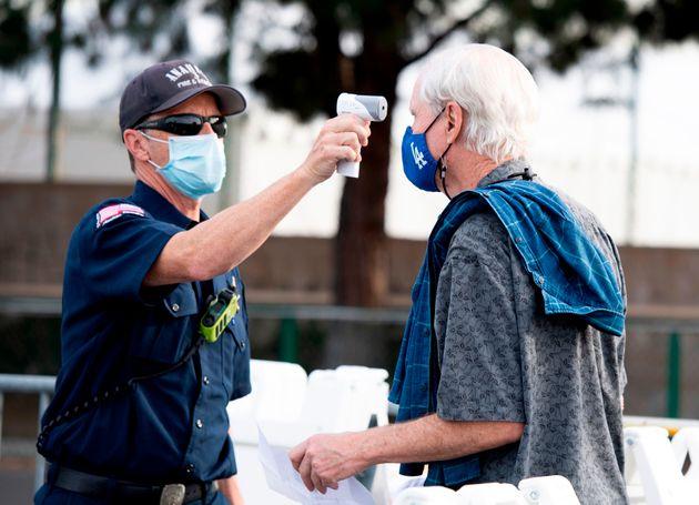 ディズニーランドは一部の施設で1月13日から大規模なワクチン接種場となっている