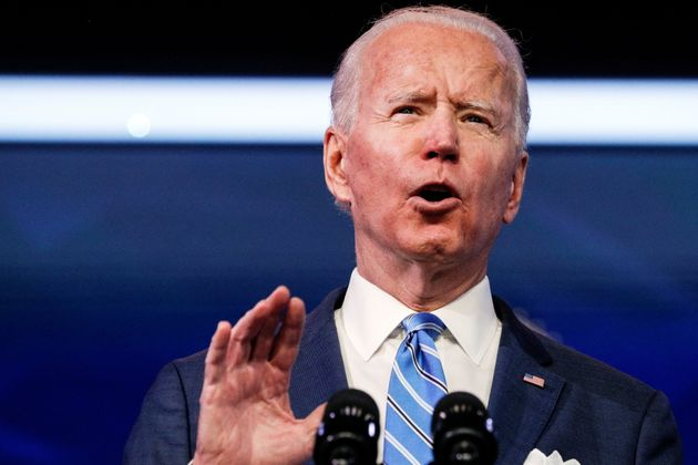 U.S. President-elect Joe Biden delivers remarks during a televised speech on the current economic and...