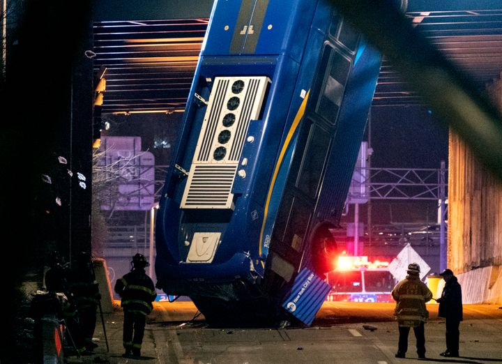Eight passengers suffered minor to non-life threatening injuries, according to the New York City Fire Department.