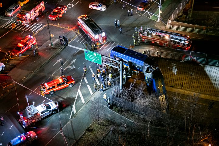 The vehicle, an articulated bus, crashed just after 11 p.m. at the interchange between the Cross Bronx and Major Deegan expre