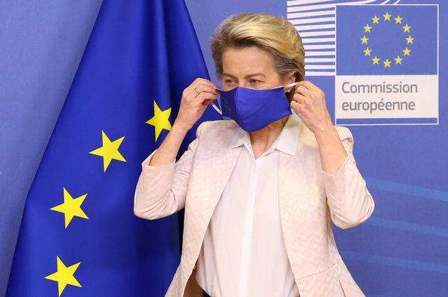 BRUSSELS, BELGIUM - JANUARY 14: European Commission President Ursula Von Der Leyen and European Parliament...