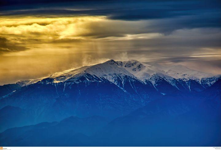 Ολυμπος, ηλιοβασίλεμα