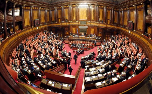 A general view shows the Italian Senate in Rome, Italy February 25, 2016. The Italian Senate approved...