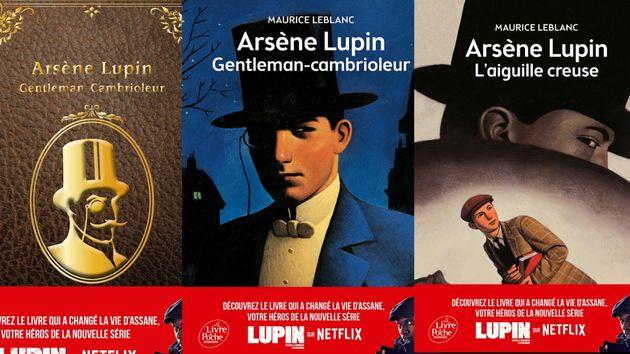 Les trois rééditions des livres de Maurice Leblanc, pour la sortie de la série