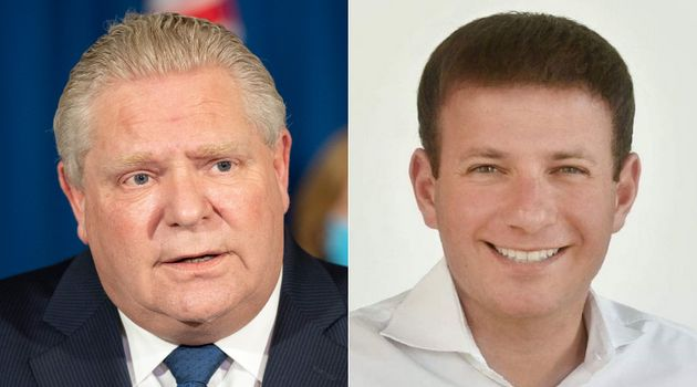 Ontario Premier Doug Ford, left, says Ontario MPP Roman Baber will no longer sit as a PC member and can't...