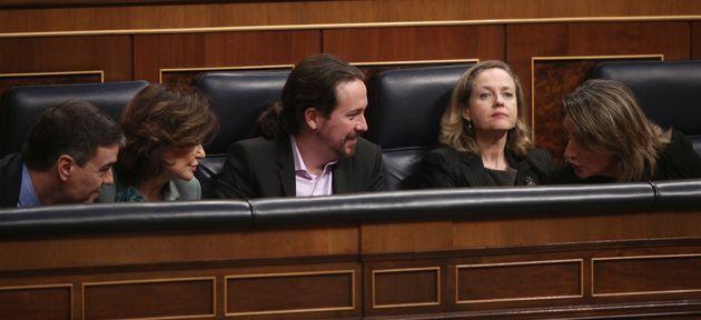Sánchez, Calvo, Iglesias, Calviño y