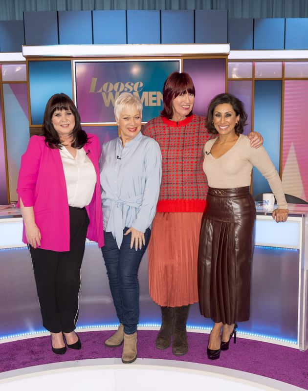 Saira with former co-stars Coleen Nolan, Denise Welch and Janet