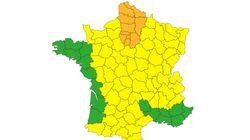 Météo France place 13 départements en vigilance orange