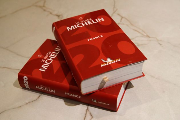 Le guide Michelin de 2020, le 27 janvier 2020 à Paris (AP Photo/Christophe