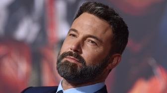 HOLLYWOOD, CA - NOVEMBER 13:  Actor Ben Affleck arrives at the premiere of Warner Bros. Pictures' 'Justice League' at Dolby Theatre on November 13, 2017 in Hollywood, California.  (Photo by Axelle/Bauer-Griffin/FilmMagic)