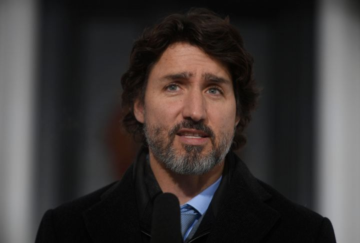 Prime Minister Justin Trudeau speak to the media about the COVID-19 virus in Ottawa on January 15, 2021.