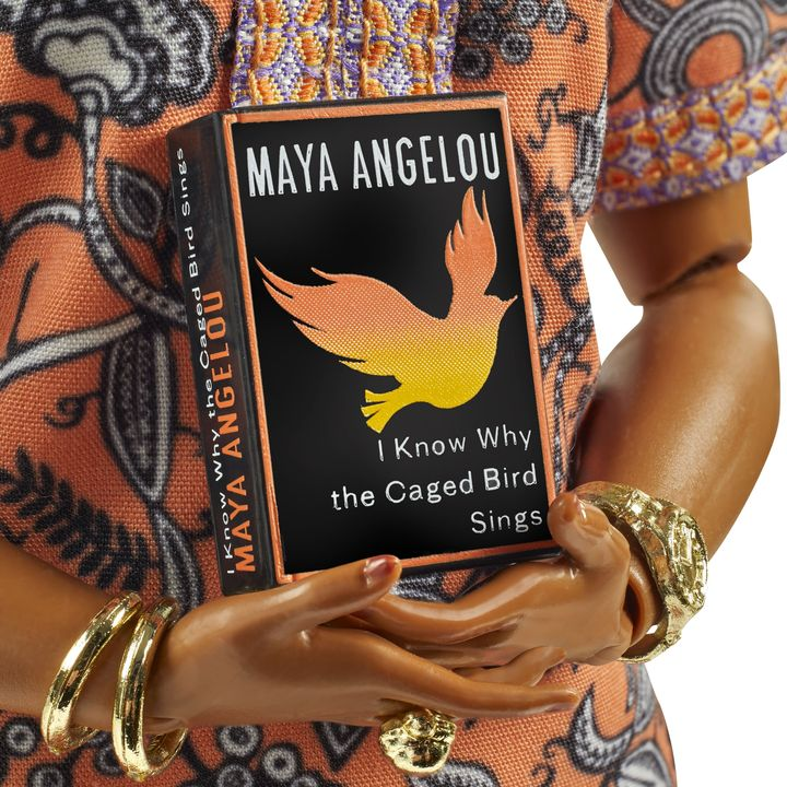 A close-up of Mattel's Dr. Maya Angelou doll.