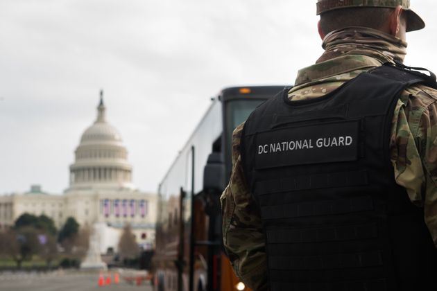 Large parts of downtown Washington have been locked down ahead of the inauguration of President-elect...