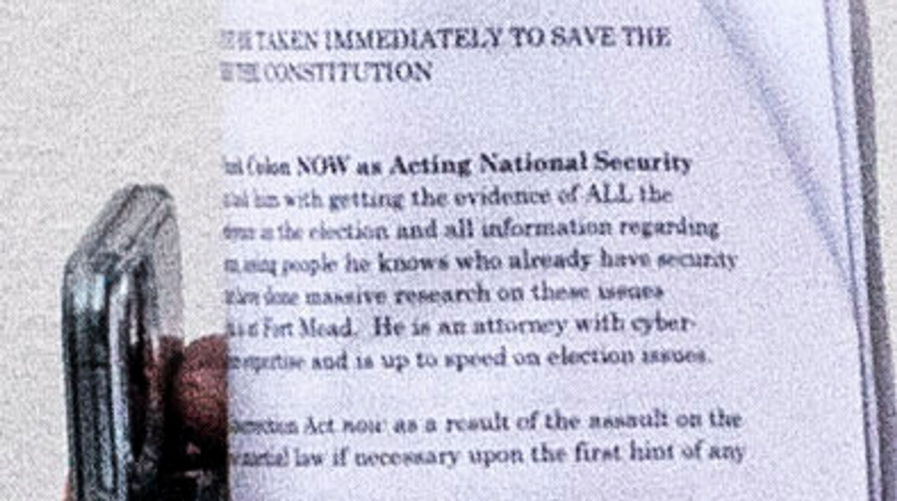 Washington Post Photographer Catches My Pillow CEO's Notes On Martial Law