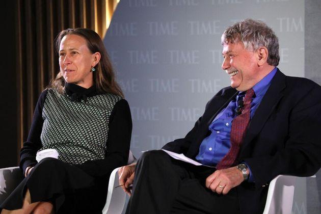 Le généticien et professeur à Harvard, Éric Lander (ici à droite),...