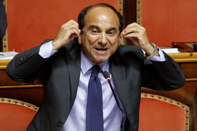 Domenico Scilipoti in Senato durante l'esame del DDL sulle Riforme, Roma, 21 luglio 2014. ANSA/FABIO