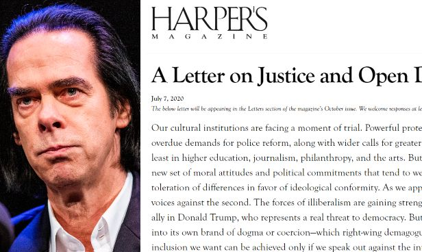 Nick Cave; la lettera dei 150 intellettuali pubblicata su Harper's
