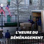 La Maison Blanche en plein déménagement avant le départ de