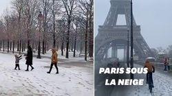 Les images des chutes de neige à Paris et dans le nord de la