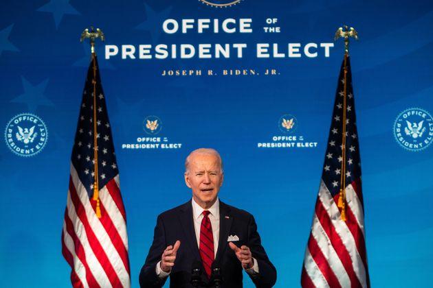 Le président élu Joe Biden, à Wilmington, le 15 janvier