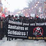 Une centaine de personnes manifestent contre le couvre-feu à