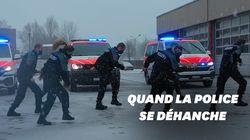 La chorégraphie de la police suisse pour faire oublier le