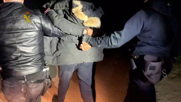 Detención de 'El Melillero' por agentes de la Guardia
