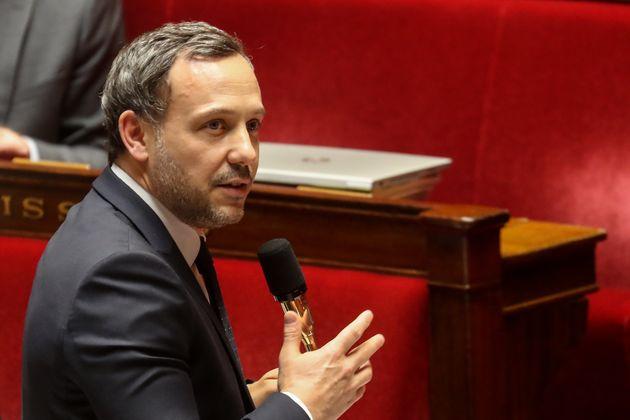 Le secrétaire d'État en charge de l'Enfance et des Familles, Adrien Taquet, à l'Assemblée nationale le...