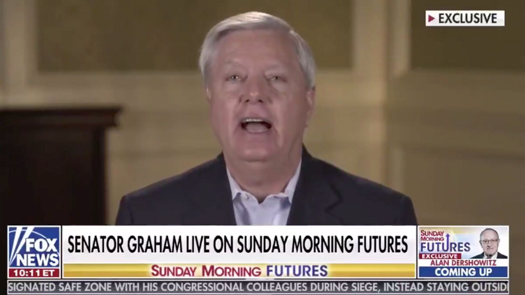 Lindsey Graham, Ignoring Trump's Role In Riot, Bashes Pelosi For Weak Capitol Security